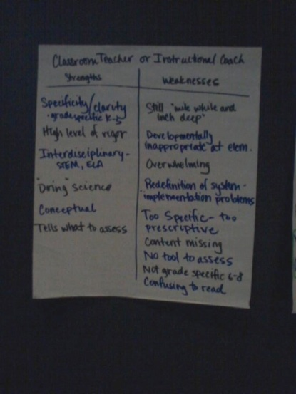 A summary of comments from Iowa teachers on the NGSS.