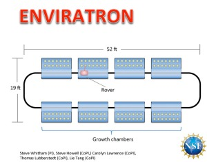 A schematic of the Envriatron plant research facility.