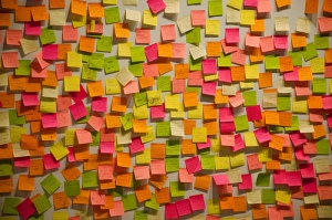 Research into glycerin-based adhesives includes pressure-sensitive substances, like those used on 3M's Post-it sticky notes.
