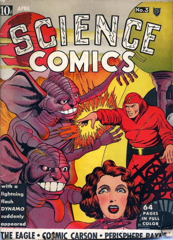 Cover of Science Comics, April 1939, via the Digital Comics Museum.
