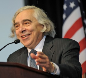 Ernest Moniz at the Solar Decathlon competition.