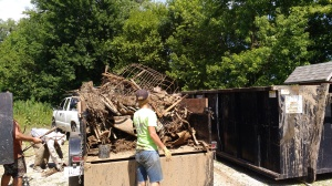 Some of the metal junk gathered from the Des Moines River in Van Buren County during just half a day's work.