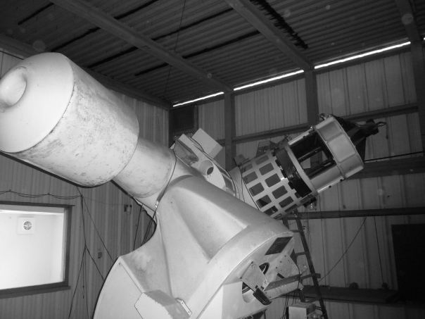 Another look at the Mather Telescope. The optical tube is at right, pointed toward the heavens.